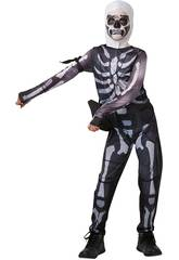 Costume Bimbo Skull Trooper Fortnite Taglia Teen