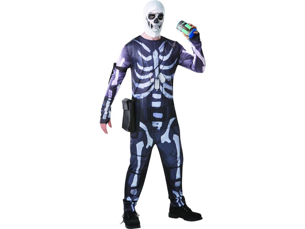 Disfarce Adulto Skull Trooper Fortnite Tamanho S