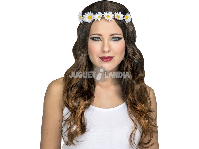 Parrucca Adulto Hippie Lunga donna