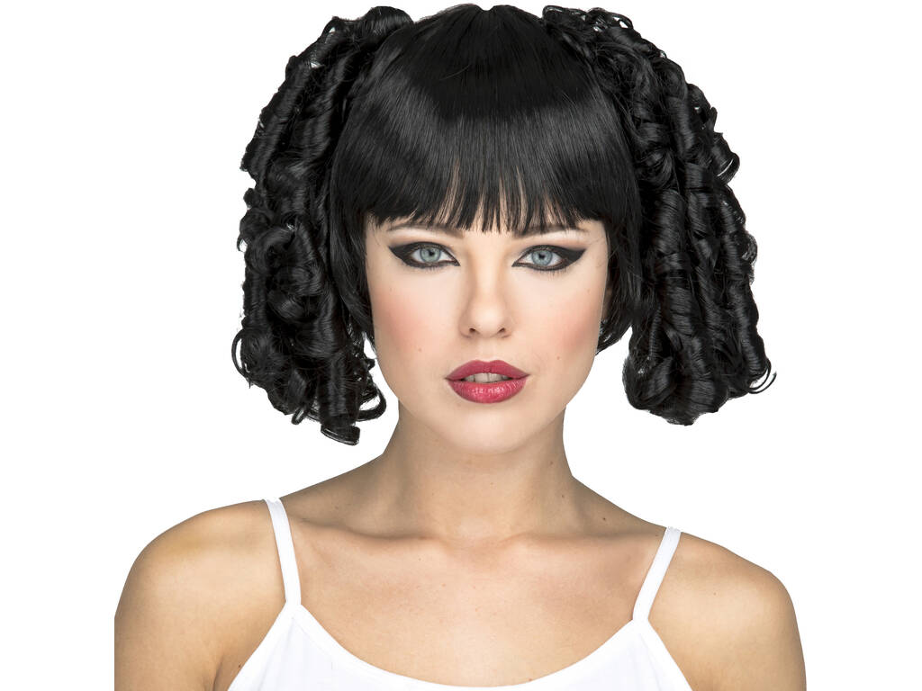 Parrucca Adulto Menina Fashion Nera