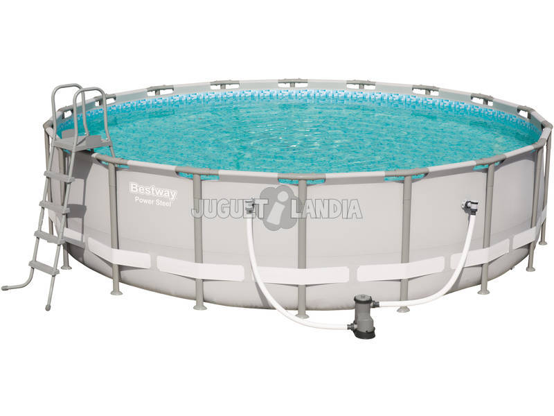 Piscina Desmontable 549X132 cm. Tubular Redonda Power Steel Bestway 56427