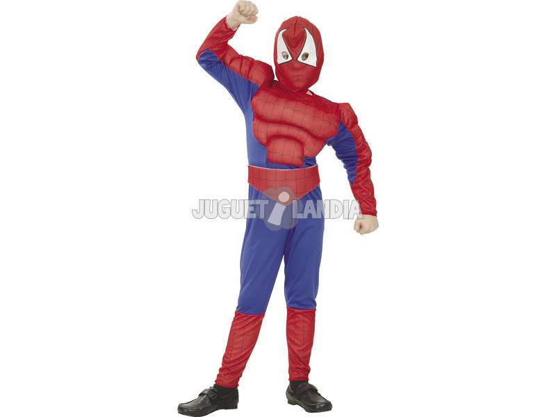 Disfraz Héroe Araña Musculoso Niño Talla S