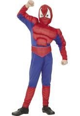 imagen Disfraz Héroe Araña Musculoso Niño Talla S