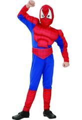 imagen Disfraz Héroe Araña Musculoso Niño Talla XL