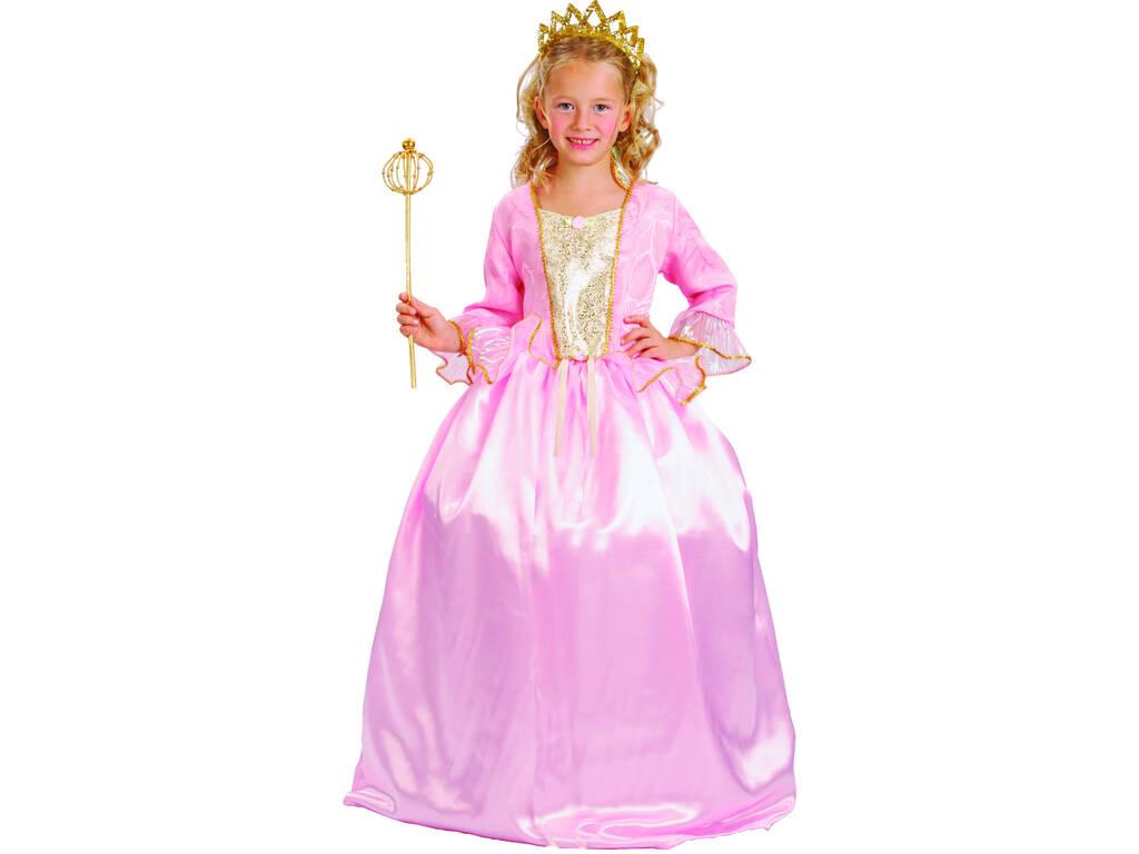 Disfarce Deluxe Princess Cor-de-Rosa Menina Tamanho M