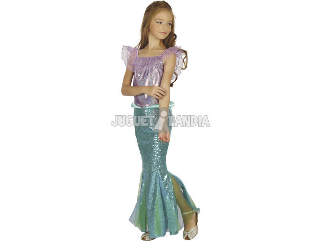 Disfraz Sirenita Niña Talla M