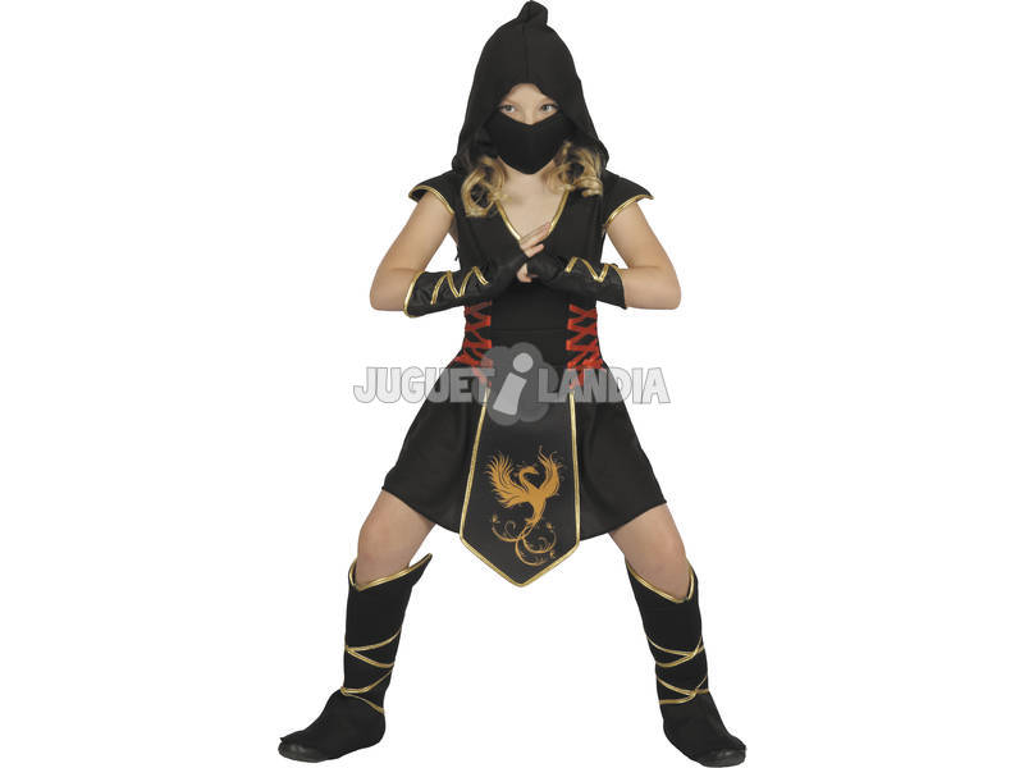 Disfarce Ninja Menina Tamanho S