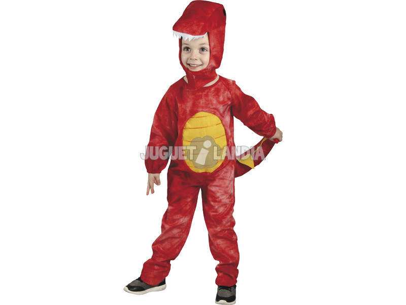 Disfraz Dinosaurio Rojo Bebé Talla M
