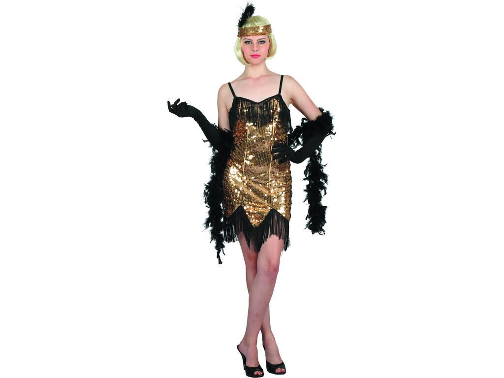 Disfraz Cabaret Dorado Mujer Talla S