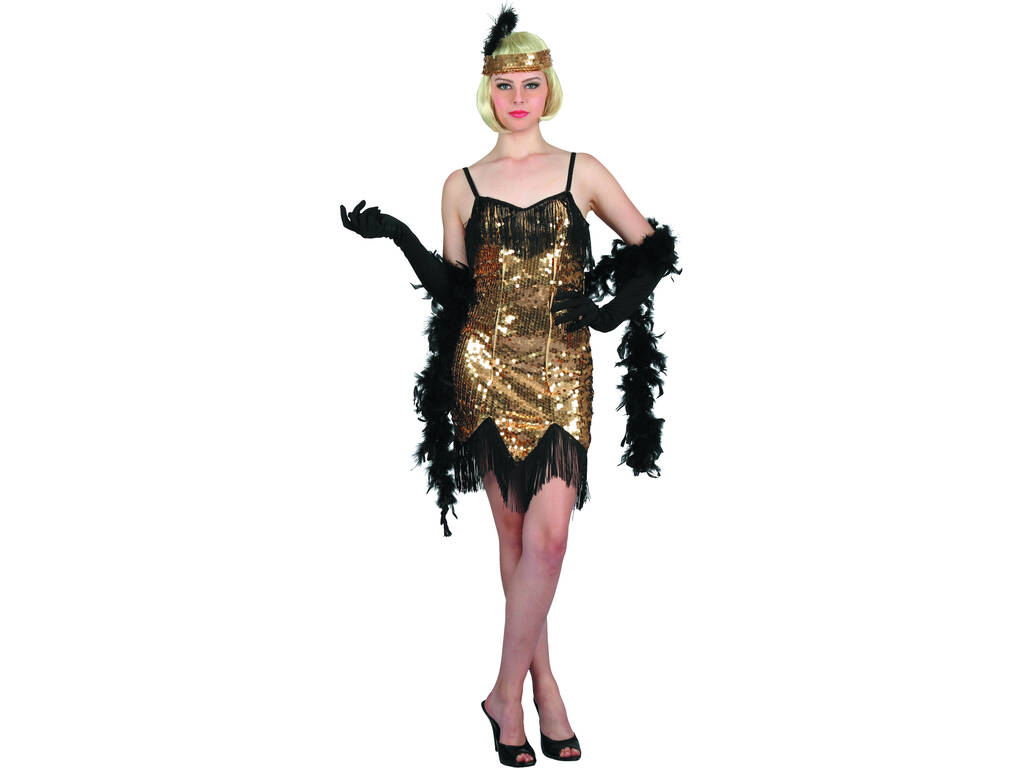 Costume Caberet Dorato Donna M
