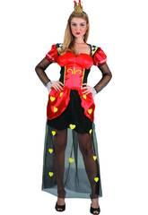 Disfraz Reina de Corazones Mujer Talla L