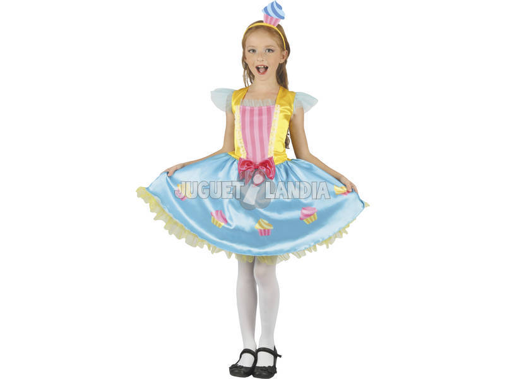 Disfraz Reina Cupcake Niña Talla M
