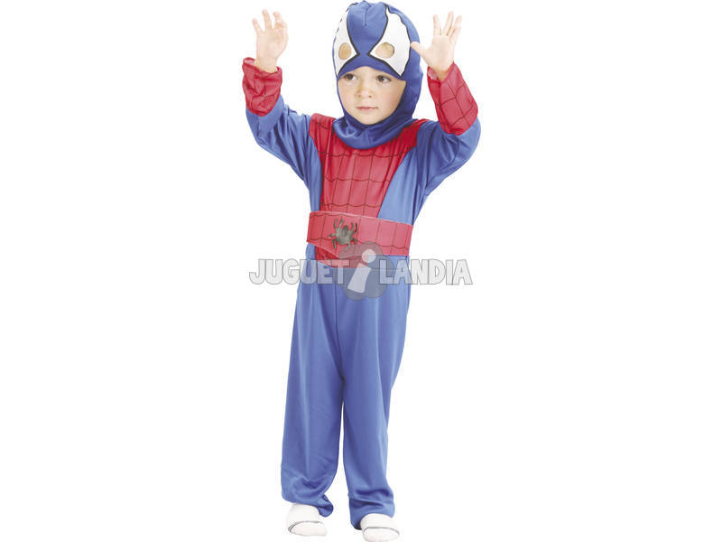 Disfarce Herói Aranha Bebé Tamanho S