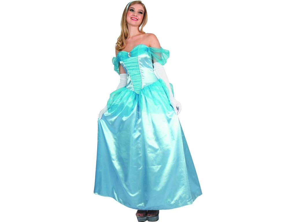 Disfarce Princesa Azul Mulher Tamanho S