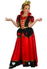 Disfraz Reina de Corazones Niña Talla L