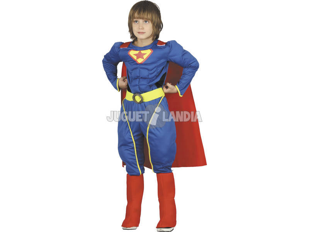 Disfarce Super-herói Musculoso Menino Tamanho S