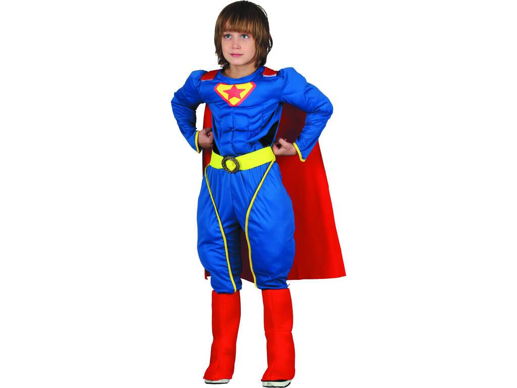 Costume Supereroe Muscoloso Ragazzo L