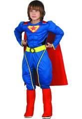 Disfraz Superheroe Musculoso Niño Talla L