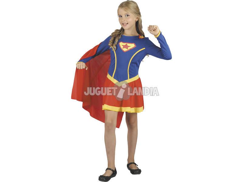 Disfarce Super-Heroína Menina Tamanho S