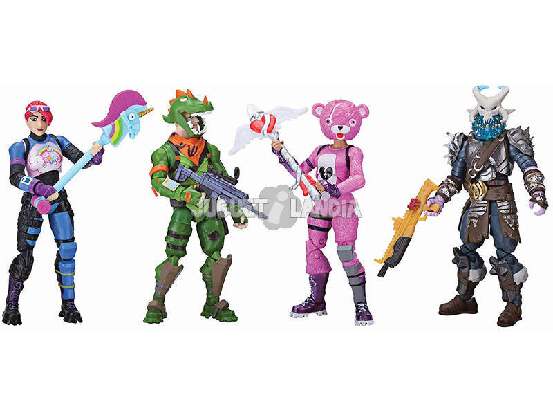 Fortnite Pack 4 Figuras Squad Mode 10 cm
