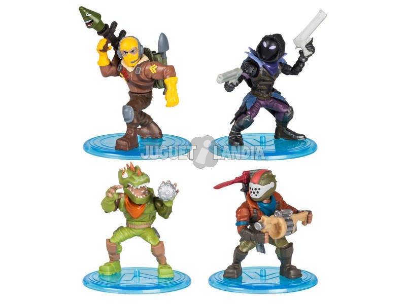 Fortnite Squad Pack 4 Figuras 5 cm.