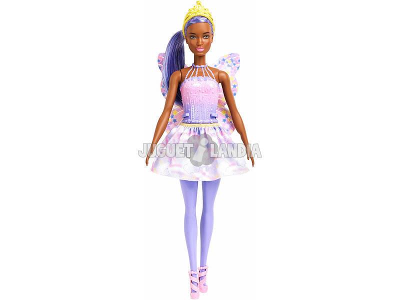 Barbie Dreamtopia Bambola con Gioielli Capelli e Ali rosa Mattel FXT02
