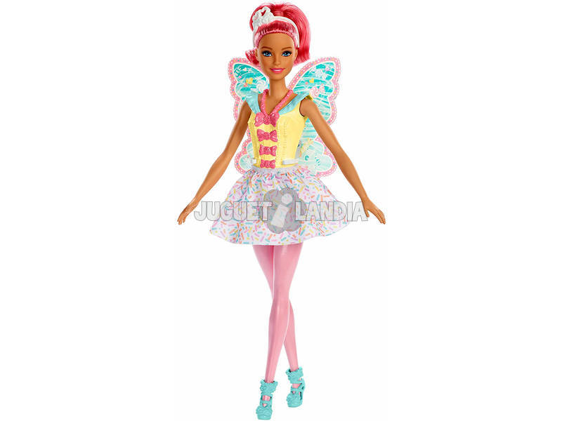 Barbie Dreamtopia Bambola Tema Caramelle Colorate Mattel FXT03