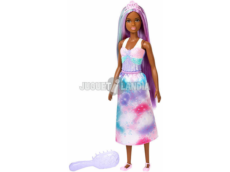 Barbie Peinados Dreamtopía Morena Mattel FXR95