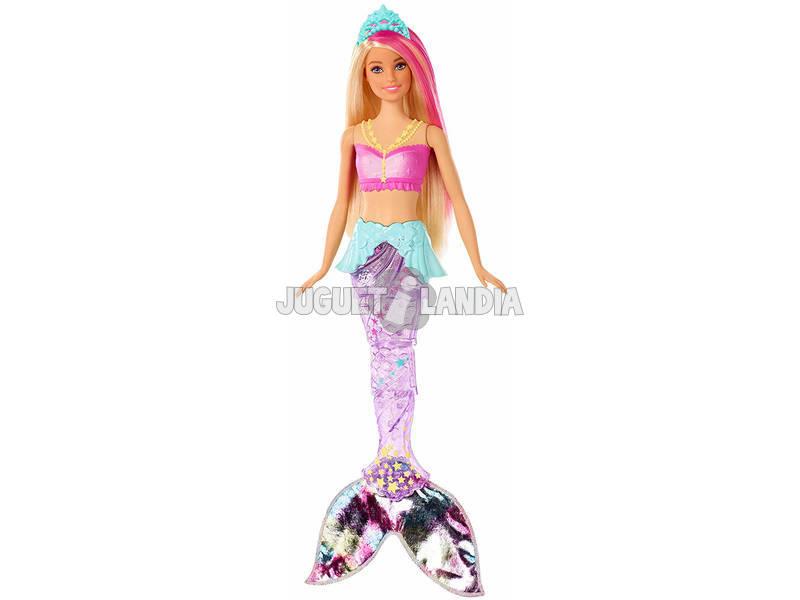 Barbie Dreamtopia Bambola Sirena Bionda con Coda Che Si Muove e Luci Mattel GFL82
