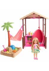 imagen Barbie Chelsea y Su Cabaña De Playa Mattel FWV24