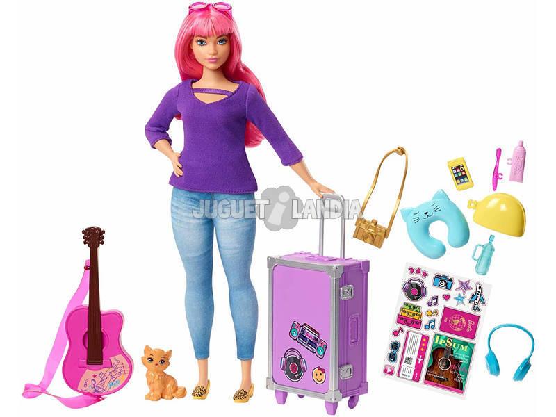 Barbie Daisy Bambola Curvy con Capelli Rosa Mattel FWV26