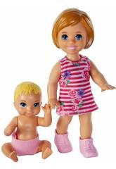 imagen Barbie Skipper Babysitters Pack Hermanos Mattel GFL30