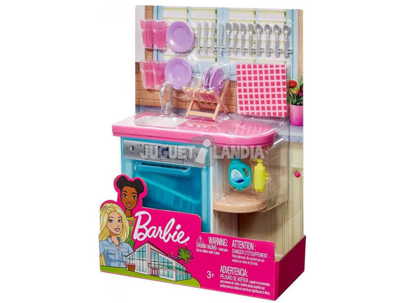 Barbie Surtido Muebles Interior Mattel FXG33
