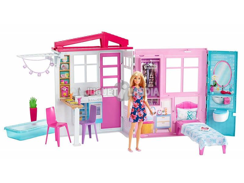 Barbie Casa Portatile Piccola con Accessori Mattel FXG55