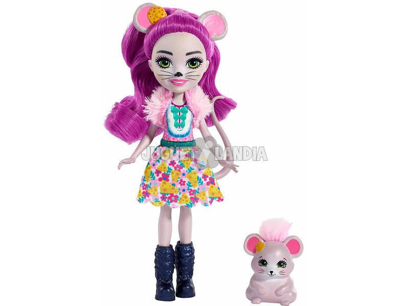 Enchantimals Muñeca y Mascota Mayla Mouse y Fondue Mattel FXM76