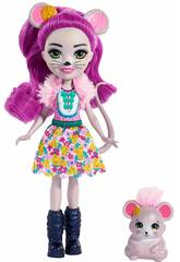 Enchantimals Boneca e Animal de Estimação Mayla Mouse e Fondue Mattel FXM76