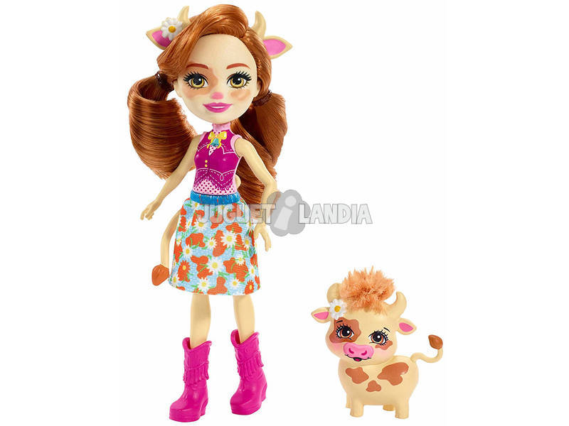 Enchantimals Cailey Cow y Curdle Mattel FXM77