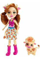 Enchantimals Curdle e Mucca Cailey Mattel FXM77