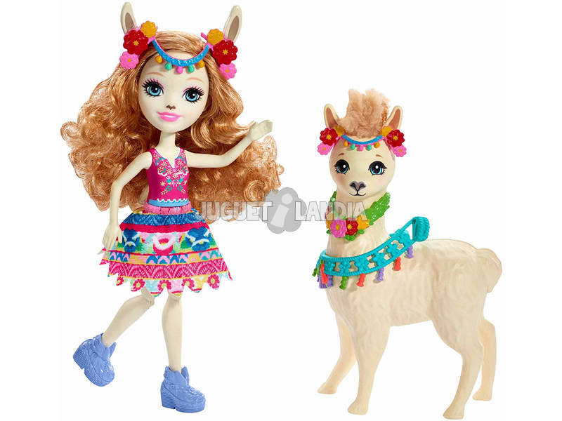Enchantimals Lluella Lhama y Fleecy Mattel FRH42