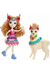 Enchantimals Fleecy Il Lama con cucciolo Mattel FRH42