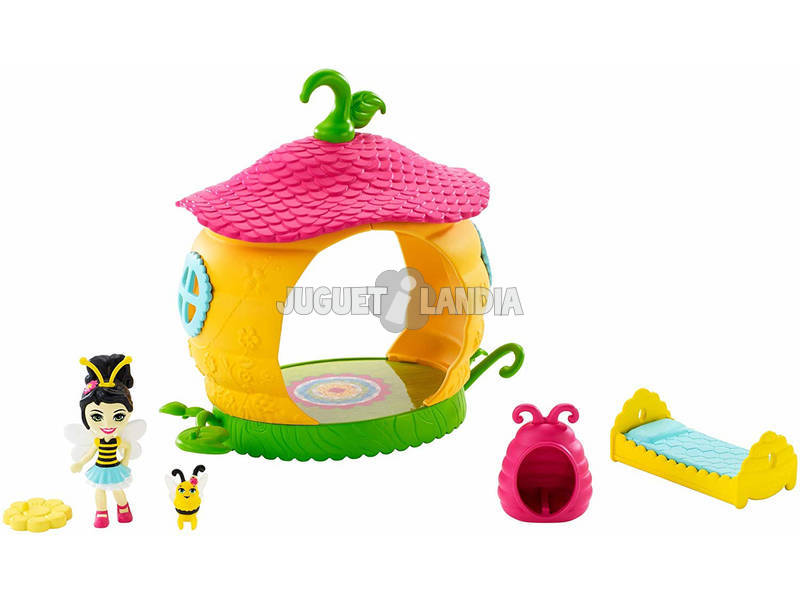 Enchantimals Camera delle Api Playset con Beetrice l'Ape Pollen Il Bruco Mattel FXM99