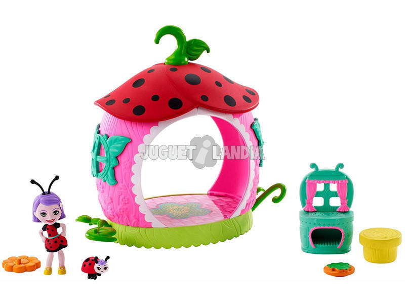 Enchantimals Minicocina de Ladelia Ladybug Mattel FXM98