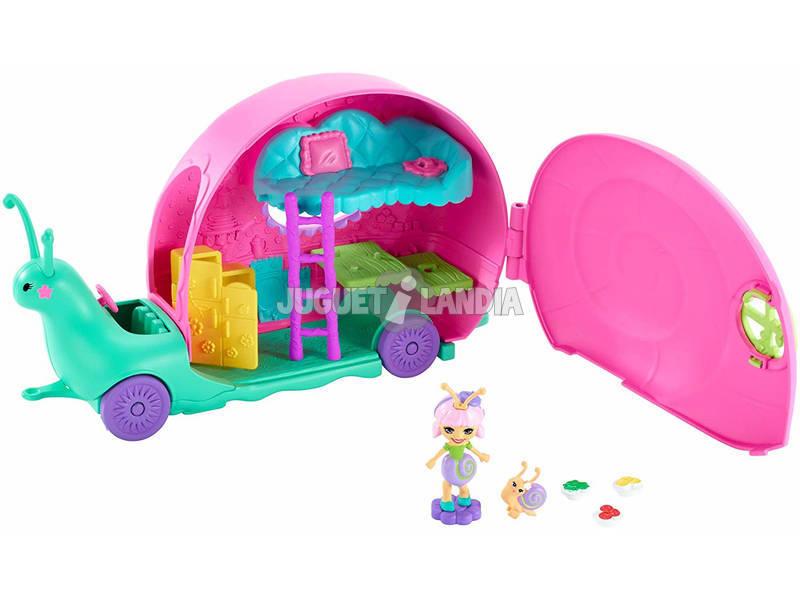 Enchantimals Camper Playset con Bambola Saxon La Lumaca Mattel GCT42