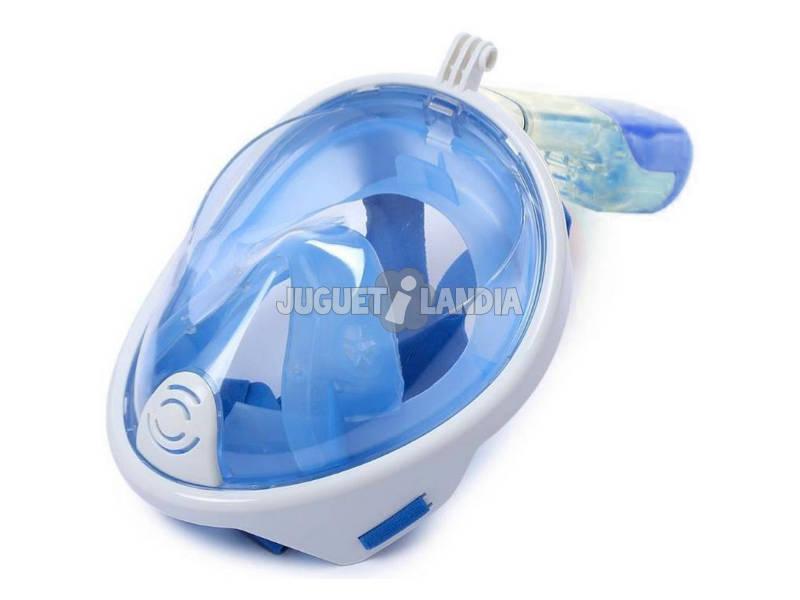 Maschera boccaglio di superficie visione panoramica, Blu Snorkel L/XL Kokido MS1012