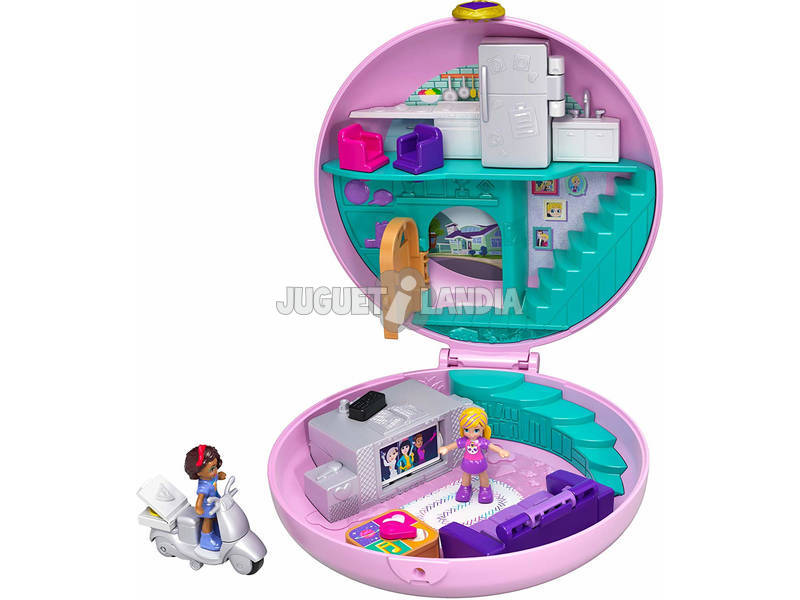 Polly Pocket Cofanetto Pigiama Party con 2 Mini Bambole Mattel GDK82