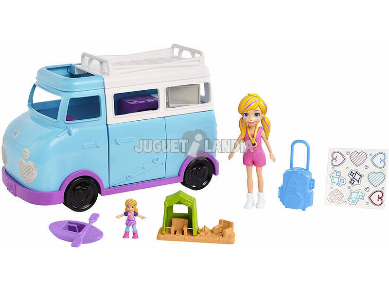 Polly Pocket Caravana Aventuras De Polly Mattel FTP74