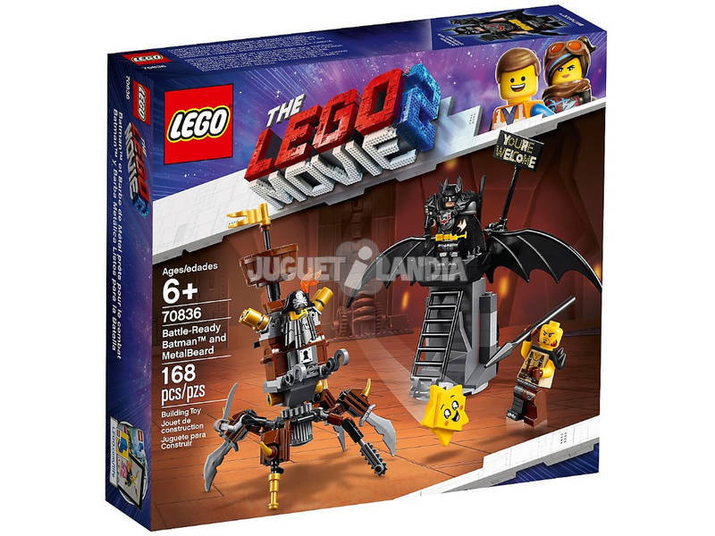 The Lego Movie 2 Batman pronto alla battaglia e Barbacciaio 70836