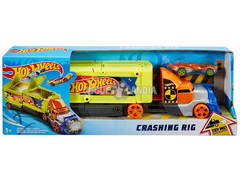 Hot Wheels Camion Super Voitures Crashin Rig Jackknife Mattel GCK39