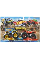 Hot Wheels Véhicules Monster Truck Duos De Démolition Mattel FYJ64