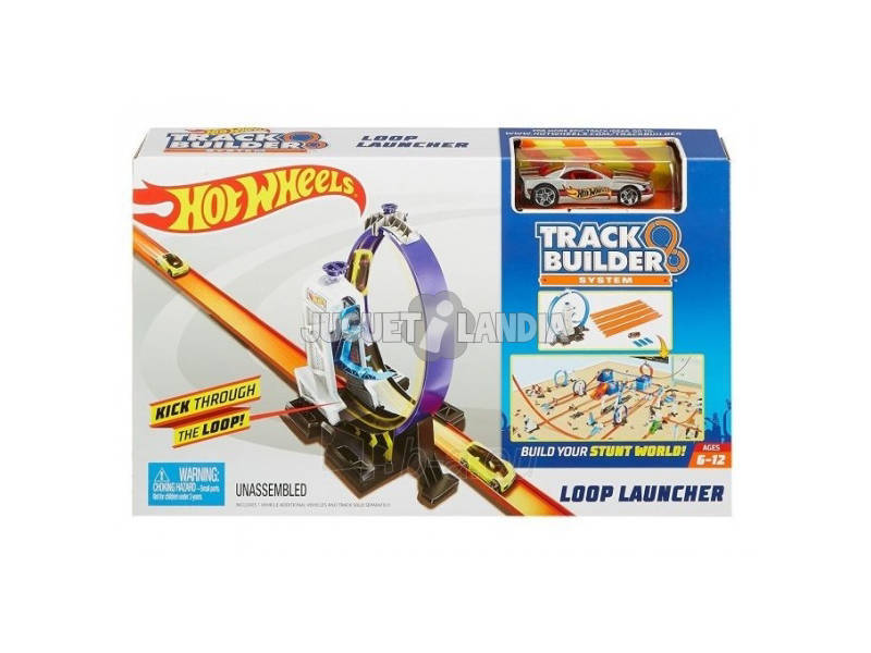 Hot Wheels Track Builder Looping Com Lançador Mattel DMH51